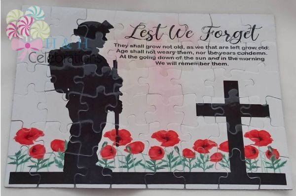 Lest We Forget Cardboard Jigsaw Puzzle